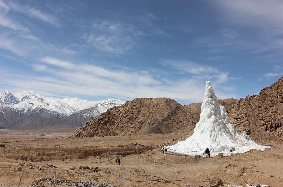 ice stupa, ghiacciai artificiali