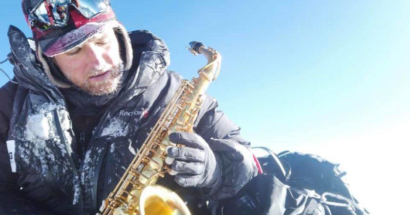 sax, Hakon Erlandsen, musica, concerto, everest, record