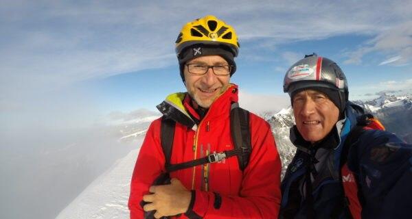 Fabio Fazio con la guida Abele Blanc. Foto archivio Abele Blanc