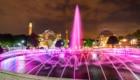 Giochi di luce nella notte di Istanbul