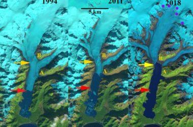 ghiacciaio, excelsior glacier, landsat, satelliti, global warming, climate change, alaska