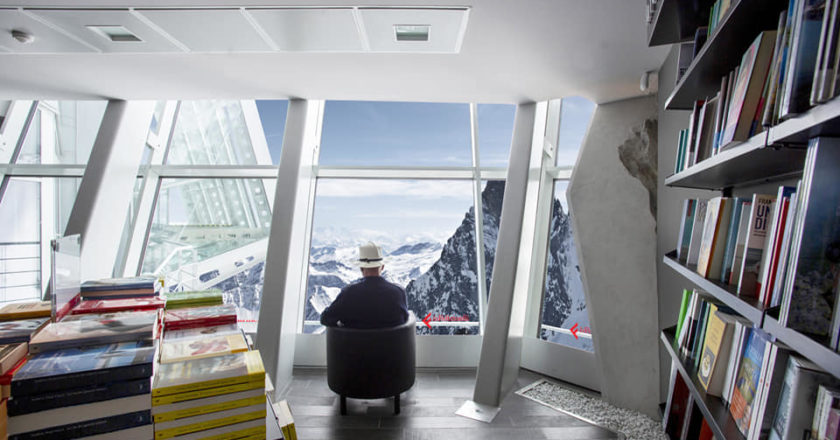 monte bianco, skyway, lafeltrinelli, libreria