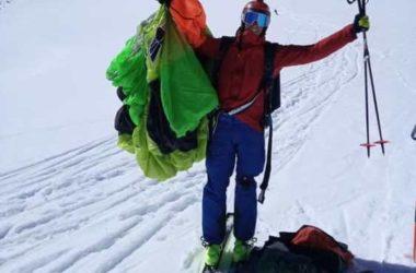 matthias giraud, base jumper, sci, ski base jump, monte bianco