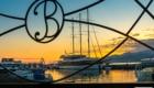 Splendido tramonto sul mare a Batumi