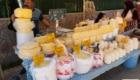 Angolo dei formaggi nel mercato di Golova