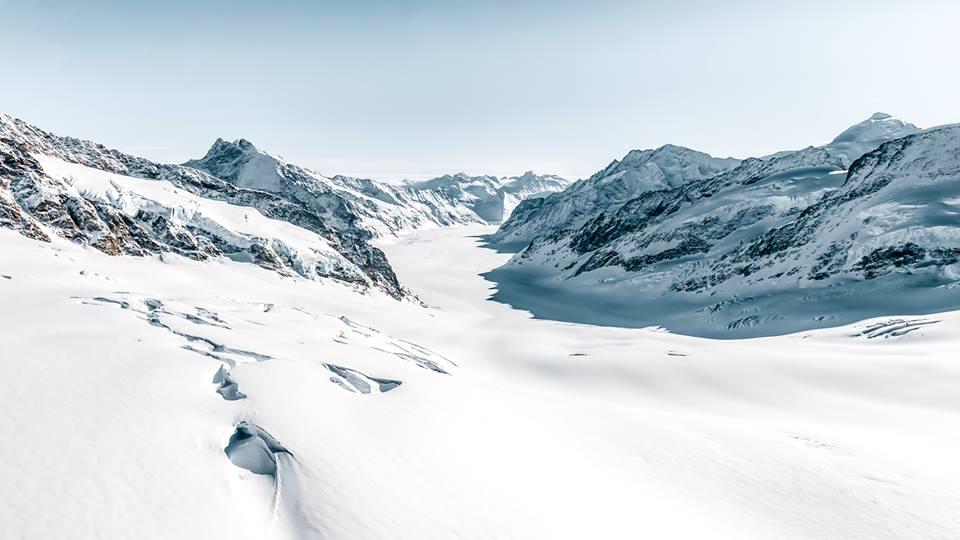 ghiacciaio dell'aletsch, svizzera