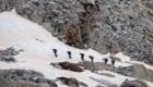 Docenti in cordata sul ghiacciaio dell'Adamello - Foto FB @Università degli Studi di Brescia - Ph. Massimiliano Musolino