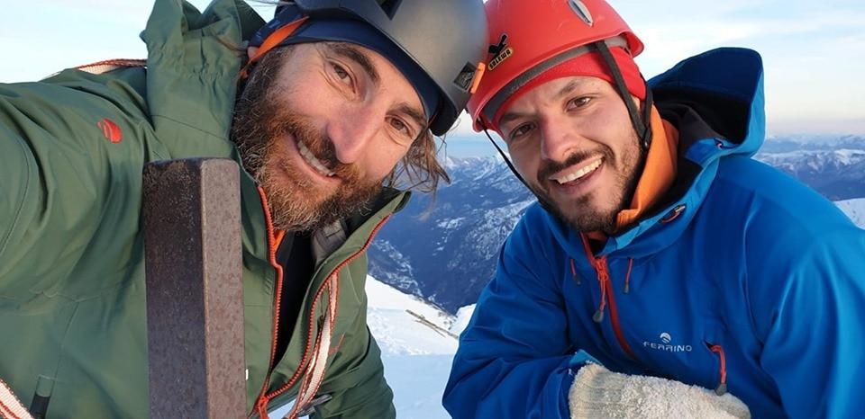 Cala Cimenti e Francesco durante la spedizione al Gasherbrum II del 2018