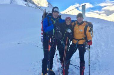 Marco Confortola, Pipi Cardell e Denis Urubko al GII