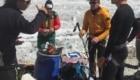 Marco Confortola, Dan Bowie e Denis Urubko al campo base dei Gasherbrum prima di partire per l'operazione di soccorso al GVII (foto @ Marco Confortola)