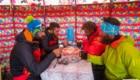 Colazione al Campo 1 del Pik Lenin