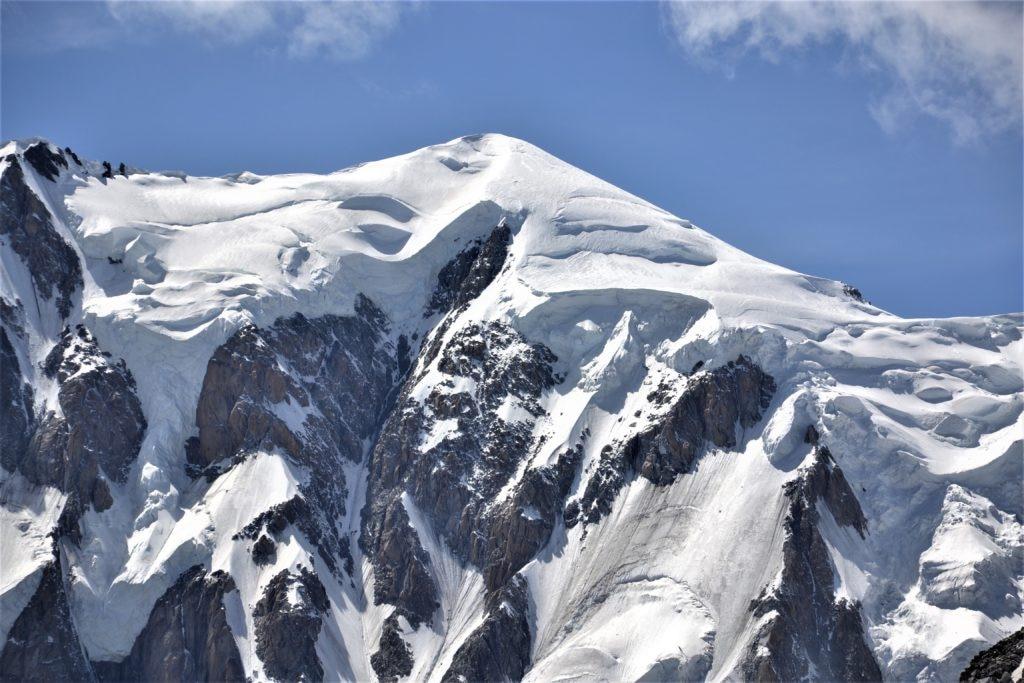 Il Monte Bianco visto dal versante italiano