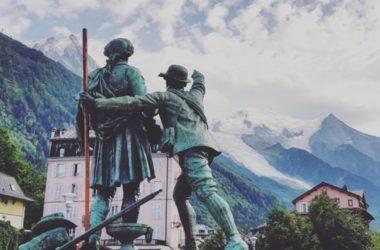 La guida J. Balmat indica la vetta del Bianco a De Saussure