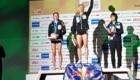 Podio femminile al termine della finale del Campionato del Mondo Lead 2019, disputata ad Hachioji, Giappone. Primo posto per Janja Garnbret, secondo per Mia Krampl, terzo per Ai Mori - Foto Instagram @ausclimbing