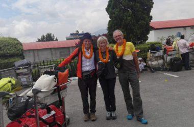 Erri, Nives e Romano a Kathmandu. Foto Facebook Meroi-Benet