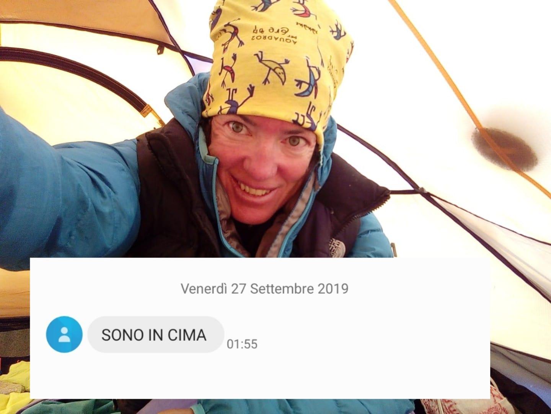 Photo of Donne in vetta: sul Manaslu Stefi Touget e Cristina Piolini, che sta scendendo con gli sci
