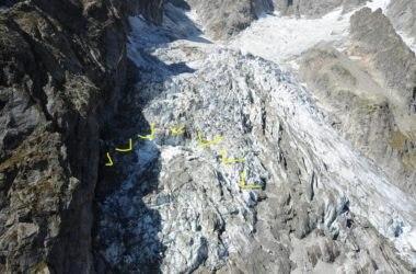 Clima: rischio crollo ghiacciaio su Monte Bianco