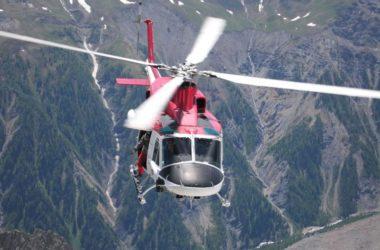 Un elicottero del soccorso alpino valdostano
