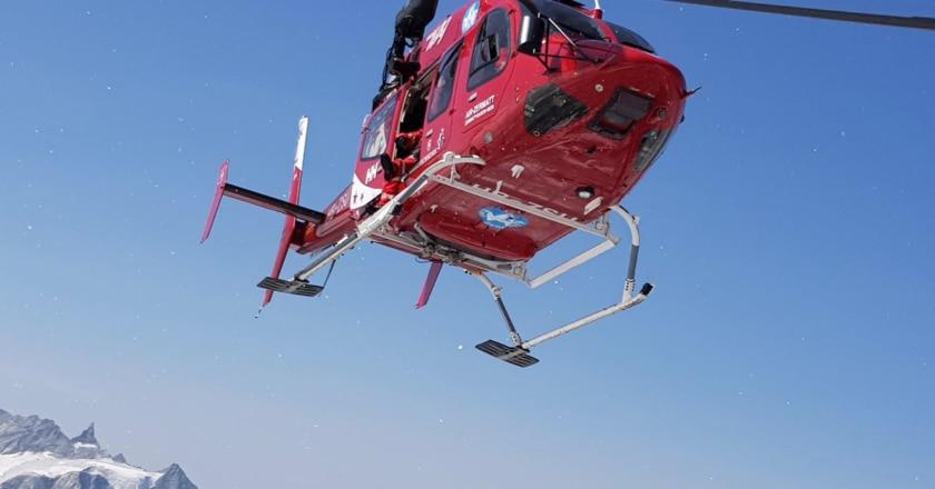 incidente sul polluce, l'elicottero di air zermatt