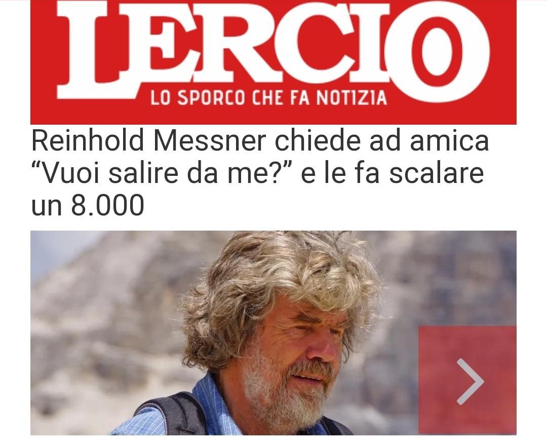 Photo of Reinhold Messner protagonista della satira di Lercio