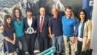 La cerimonia presso l'Aeroporto di Pescara organizzata per ringraziare il team Explora-Dreamers - Foto FB @Davide Peluzzi