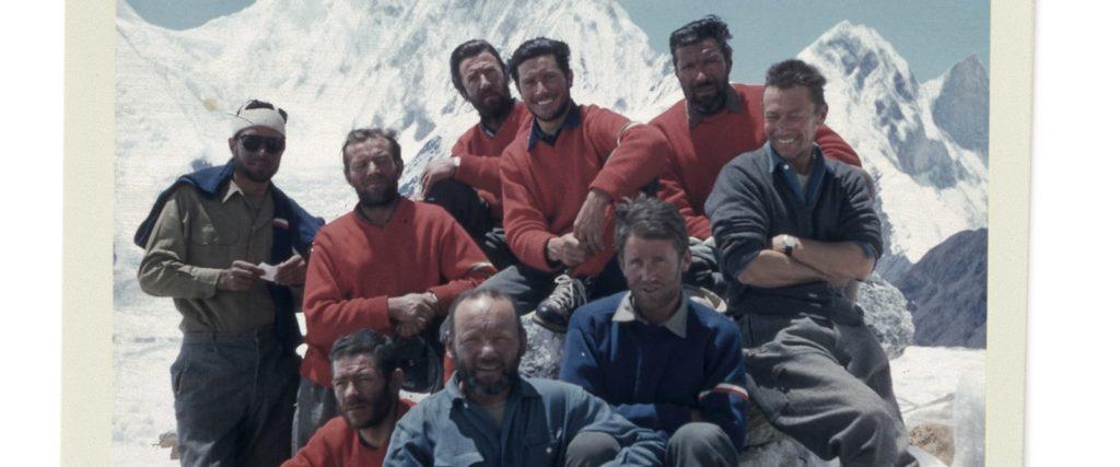 La squadra della spedizione del 1958 al Gasherbrum IV