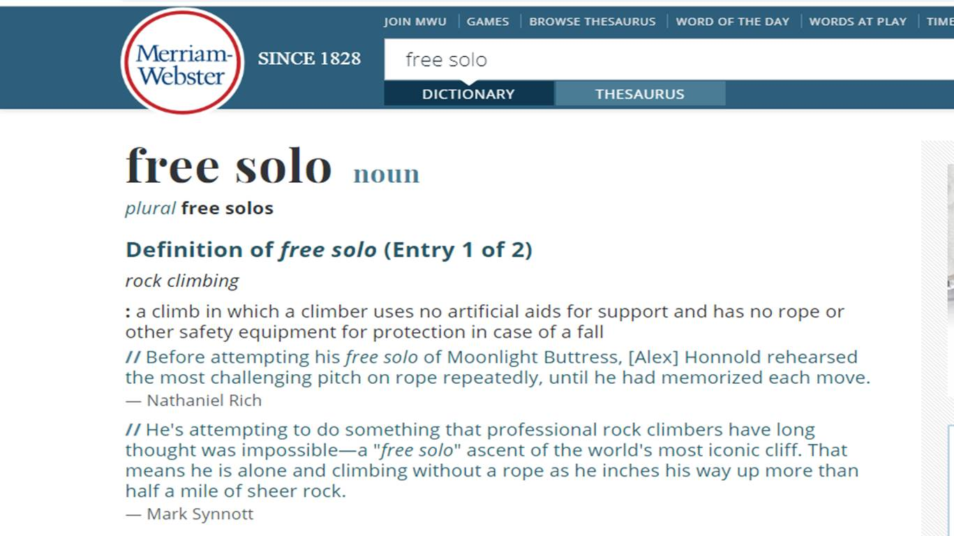 """Photo of Il termine """"free solo"""" entra nel dizionario grazie ad Alex Honnold"""