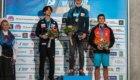 Podio maschile della sfida di Kranj di Coppa del Mondo Lead 2019: 1. Adam Ondra; 2. Kai Harada; 3. Alberto Gines Lopez - Foto FB @International Federation of Sport Climbing (IFSC)
