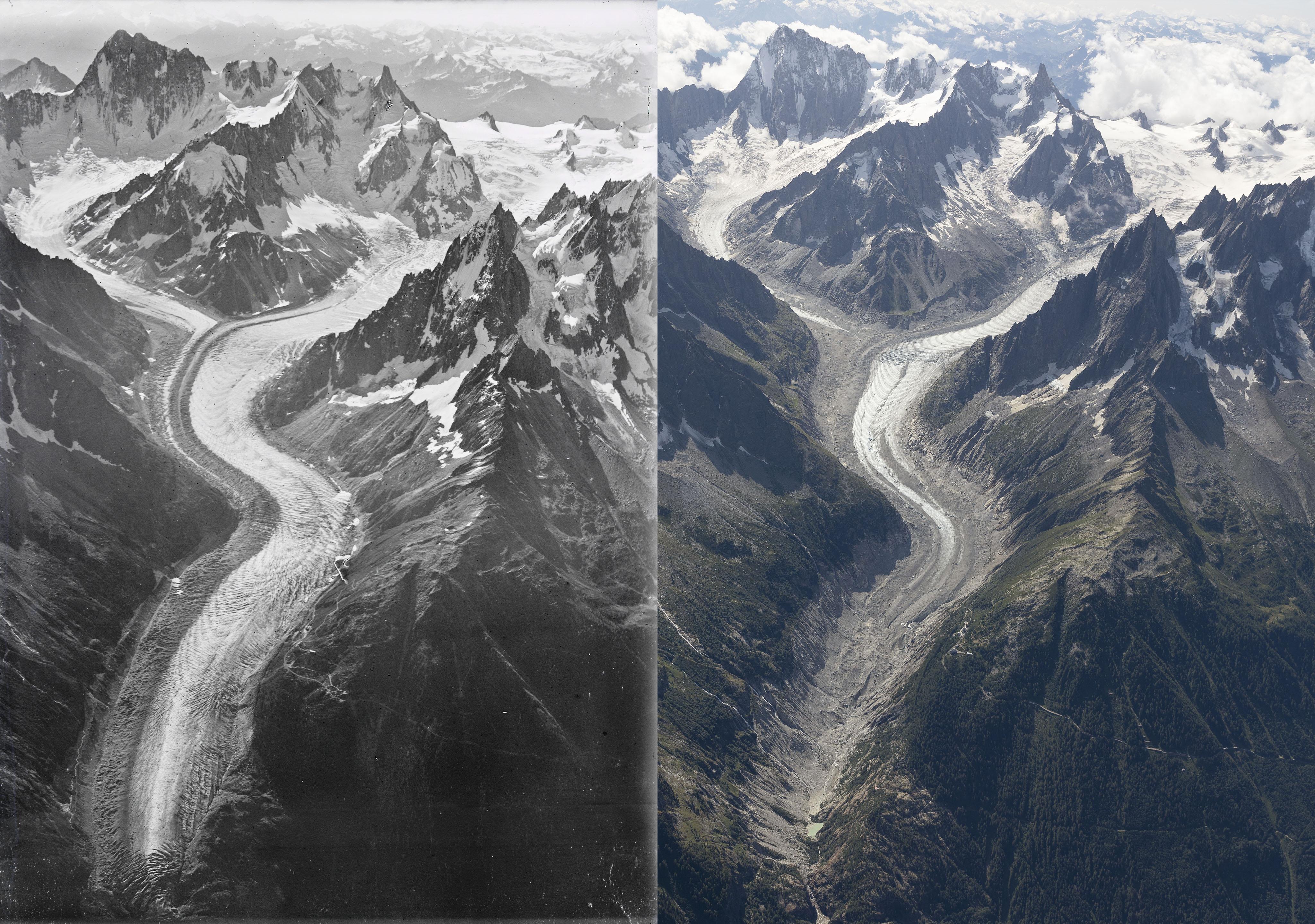 Photo of 1919-2019. L'evoluzione dei ghiacciai del Monte Bianco in un confronto fotografico