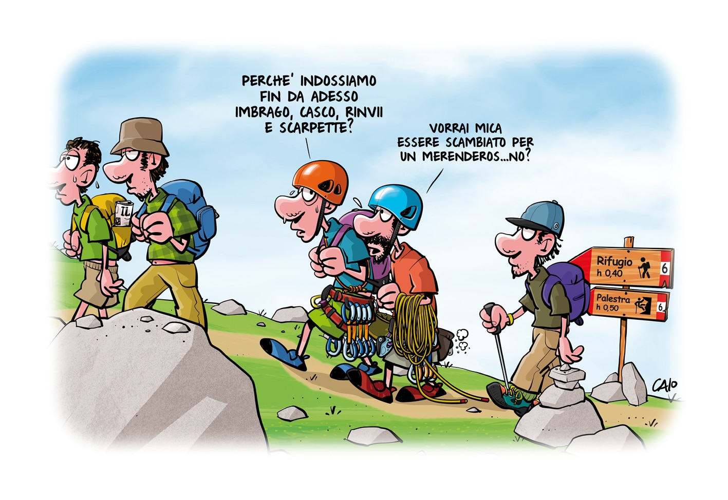 """Photo of I comix di Caio, dove il fumetto incontra la montagna: """"Prendo in giro vizi e manie dell'arrampicatore comune"""""""