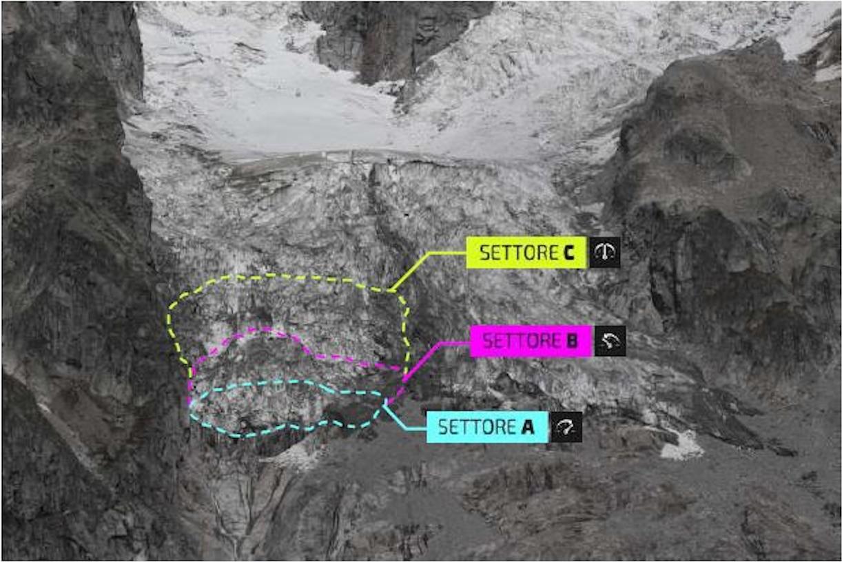 Il bollettino di Montagna Sicura del 4 ottobre 2019 relativo al ghiacciaio del Planpincieux