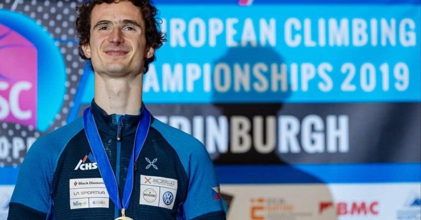 adam ondra. lead, campionati europei