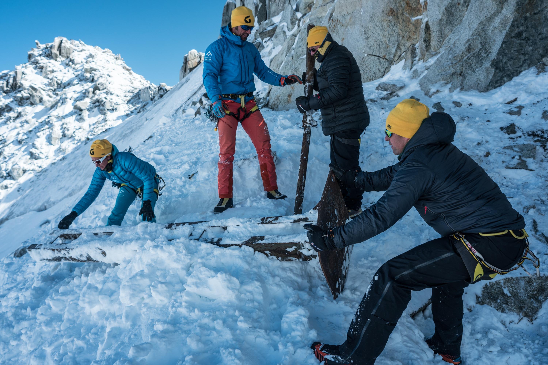 Photo of Pulizie sul ghiacciaio Grand Flambeau, sul massiccio del Monte Bianco