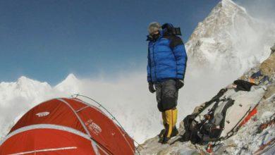 Photo of Denis Urubko e Don Bowie a 6950 metri sul Broad Peak