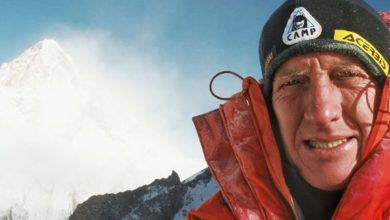 Photo of Denis Urubko e il K2 d'inverno