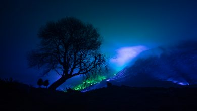 Photo of Irlanda. Le montagne del Connemara illuminate da mille luci colorate