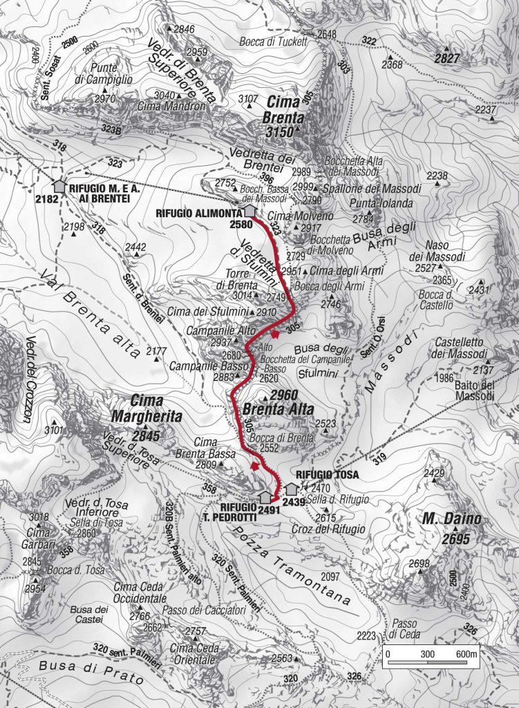 Le Bocchette centrali itinerario Brenta