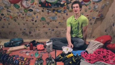 Photo of Nello zaino di Adam Ondra. L'attrezzatura per arrampicare outdoor