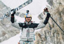 Photo of Andrzej Bargiel scia dalla vetta l'inviolato Yawash Sar II. Ora si va al Laila