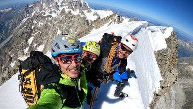 Photo of Matteo Pasquetto, le sue ceneri disperse sulle Grandes Jorasses