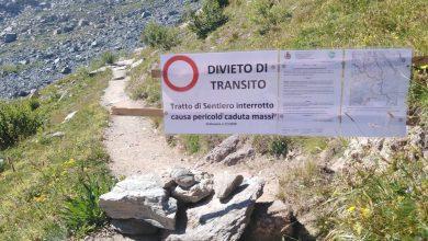 Photo of Frane sul Monviso. Chiuso un tratto del sentiero per il Rifugio Quintino Sella