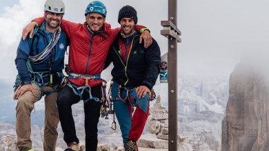 """Photo of Cima Ovest Lavaredo. Baù, Migliorini e Tondini liberano """"Space Vertigo"""""""