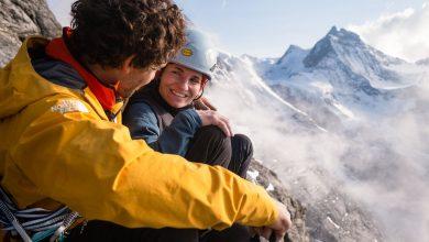 """Photo of Nord dell'Eiger. Jacopo Larcher e Barbara Zangerl ripetono """"Odyssee"""" in 16 ore"""