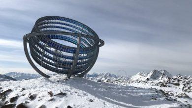 Photo of Un'opera d'arte a 3000 metri sul ghiacciaio del Giogo Alto