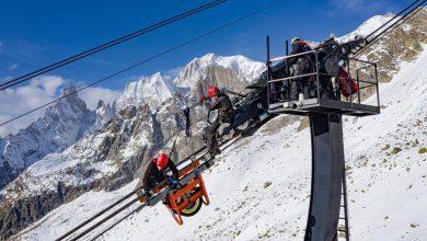 Photo of Manutenzione da brivido sulla Skyway Monte Bianco