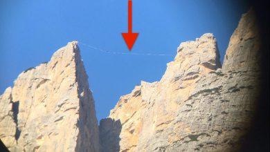 Photo of Slackline non segnalata in Dolomiti. L'elisoccorso: è un pericolo