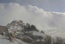 Photo of Castelluccio di Norcia nella morsa del blizzard