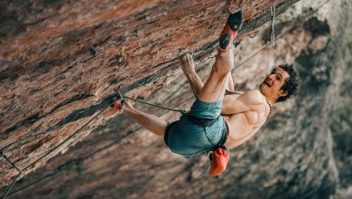 "Photo of Adam Ondra ""in fuga"" dall'inferno di Margalef"