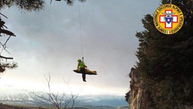 Photo of Roccamorice. Incidente in falesia, climber in gravi condizioni