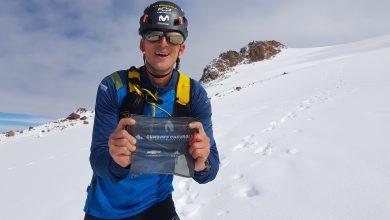 Photo of Karl Egloff da record sul vulcano Cayambe, terza vetta dell'Ecuador